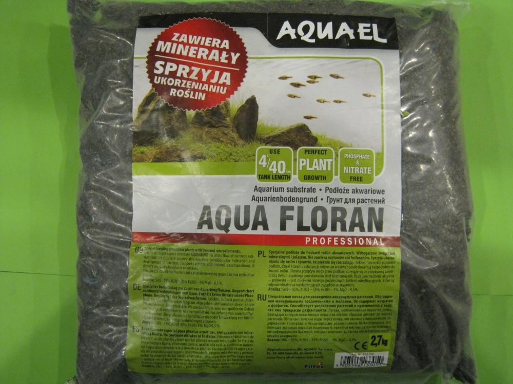 AQUAEL Aqua floran 4 л. грунт для растений — Зоомагазин СОМ