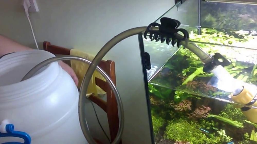 подмена воды в аквариуме - YouTube