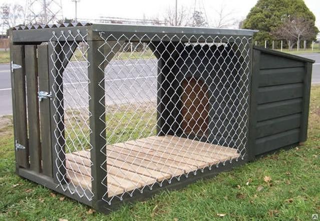теплый вольер для собаки